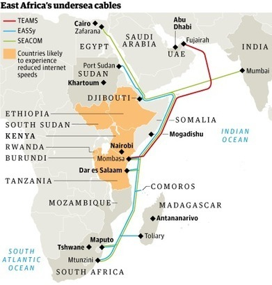East Africa internet access slows to a crawl after anchor snags cable | Technoculture | Scoop.it