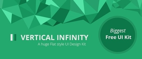 Vertical Infinity - A Mega Flat Style UI Kit for Free Download - Freebie No: 92 | Vertical Flat UI | Scoop.it