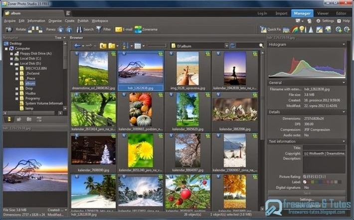 Zoner Photo Studio : un logiciel gratuit pour gérer et éditer ses photos | TIC et TICE mais... en français | Scoop.it