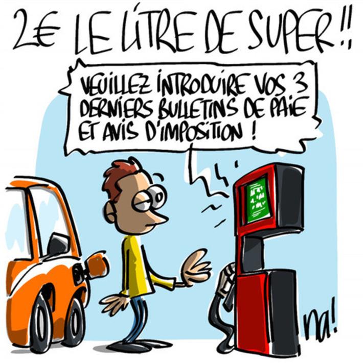2€ le litre de super ! | Baie d'humour | Scoop.it