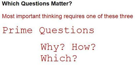 The Question is the Answer | Critical and Creative Thinking for active learning | Scoop.it
