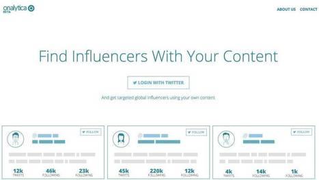 Onalytica, trouvez des influenceurs à partir de votre contenu | Outils Community Manager | Scoop.it