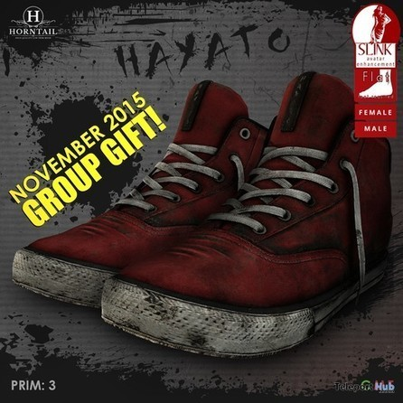 Hayato Sneakers Unisex for Slink Flat Feet by HORNTAIL | Teleport Hub - Second Life Freebies | Second Life Freebies | Scoop.it