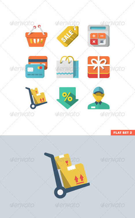 Shopping Icon Set for Web and Mobile Application (Icons) | GFX Database | GFX Download | Scoop.it