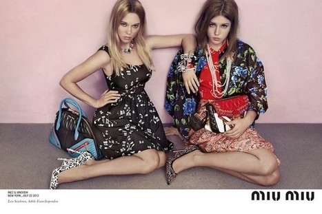 MIU MIU / CRUISE 2014 CAMPAIGN WITH LEA SEYDOUX & ADELE EXARCHOPOULOS / PHOTO INEZ & VINOODH / NEW YORK | fashion on dapaper mag | Scoop.it