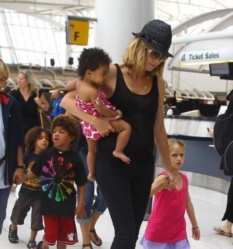 Heidi Klum reveals kids hair care is a new world for me - Monsters and Critics.com | Biracial | Scoop.it