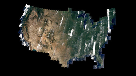 This Beautiful Patchwork US Celebrates Landsat 8's First Year in Space | Remote Sensing News | Scoop.it