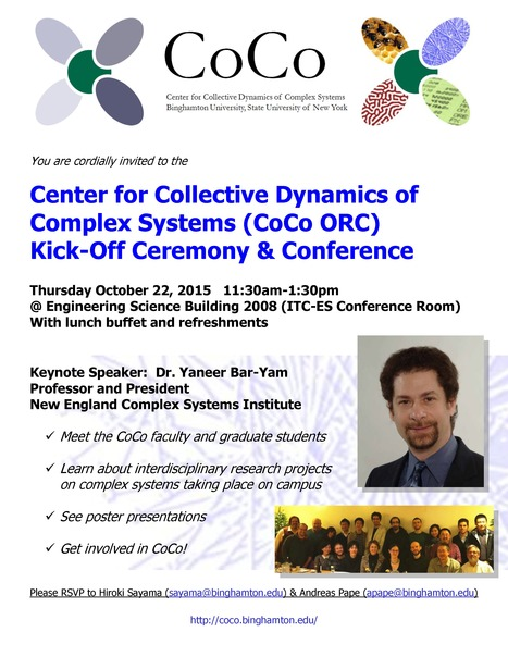 CoCo ORC Kick-Off Ceremony & Conference on Thursday October 22nd: Keynote -- Yaneer Bar-Yam (NECSI) | Center for Collective Dynamics of Complex Systems (CoCo) | Scoop.it
