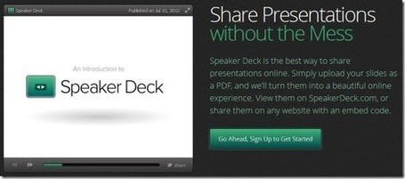 Upload PDF Files To Share Them As Presentations With Speaker Deck | PowerPoint Presentation | Educatief Internet | Scoop.it