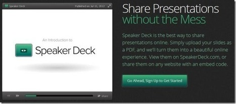 Upload PDF Files To Share Them As Presentations With Speaker Deck | PowerPoint Presentation | Linguagem Virtual | Scoop.it