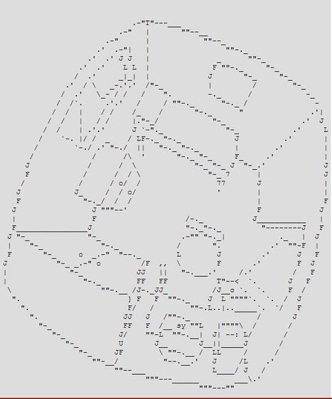 ASCII Art by Henry Segerman | ASCII Art | Scoop.it