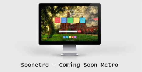 Soonetro – Responsive Metro Coming Soon Theme (Specialty Pages)   Site Templates Download   Scoop.it