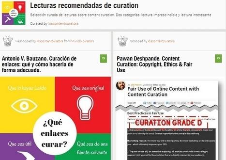 Lecturas recomendadas de curation 2 | Curación de contenidos e Inteligencia Competitiva | Scoop.it
