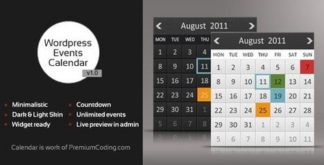 Wordpress Multiple Events Calendar with Countdown | My Best Wordpress Plugins | Scoop.it