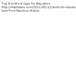 Top 8 Android Apps for Education | Science | Scoop.it