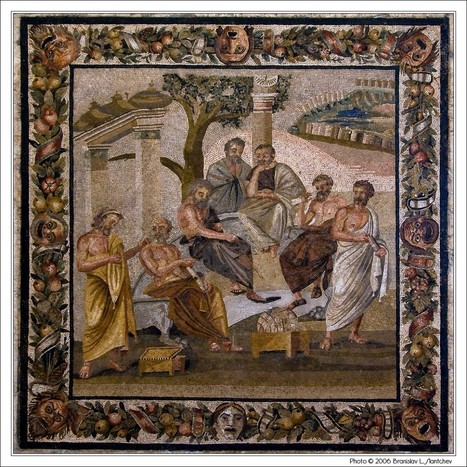 Plato's Circle in the Mosaic of Pompeii | Ancient History- New Horizons | Scoop.it