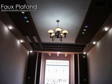 Faux plafond platre 2014 d coration et d for Decoration platre salon