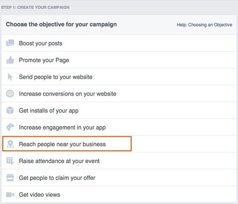 Getting Started with Facebook Local Awareness Ads | Clix Marketing PPC Blog | Social Media Tools and new Technology | Scoop.it