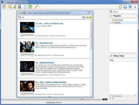 YTubePlayer, excelente cliente de Escritorio para ver los vídeos de YouTube y crear playlists.- | Docens Excellentiam UVa | Scoop.it