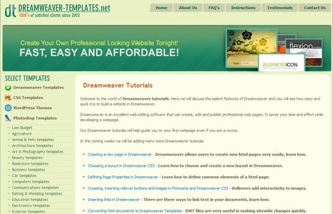 Easy Dreamweaver Tutorials | Time to Learn | Scoop.it