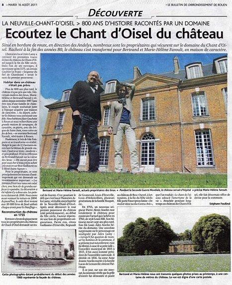Le Château du Chant d'Oisel le 16 août 2011 à La Neuville Chant d'Oisel | MaisonNet | Scoop.it