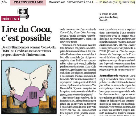 Lire du Coca, c'est possible   DocPresseESJ   Scoop.it
