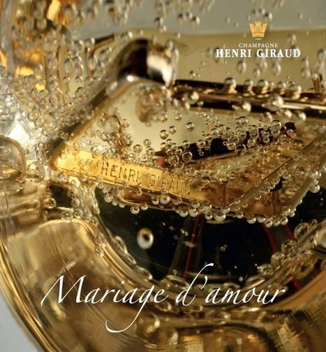 """New visual campaign entitled """"Mariage d'amour"""" for Valentine's day by...Champagne Henri Giraud 