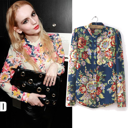 Free Shipping European Fashion Style Vintage Floral Print Long Sleeve Blouses Shirts For Women Spring/Autumn 2014 Hot Sale Tops-inBlouses & Shirts from Apparel & Accessories on Aliexpress.com | peaceful lady | Scoop.it
