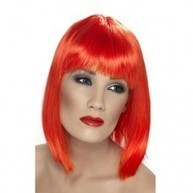 Glam Wig - Neon Red | Quality Party Wigs - Masquerade-Carnival.co.uk | Scoop.it