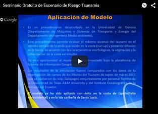 Vídeo del taller «Escenarios de riesgo frente a la amenaza de tsunamis utilizando SIG»