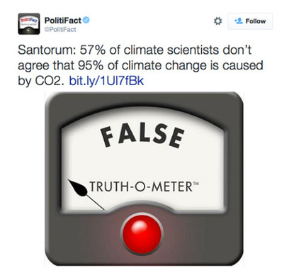 Politifact Sums Up Rick Santorum's Climate Denial Misquotes and Errors | Sustain Our Earth | Scoop.it