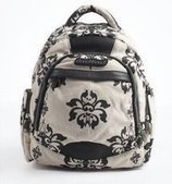Stylish sprinted floral canvas travel backpack for womens | personalized canvas messenger bags and backpack | Scoop.it