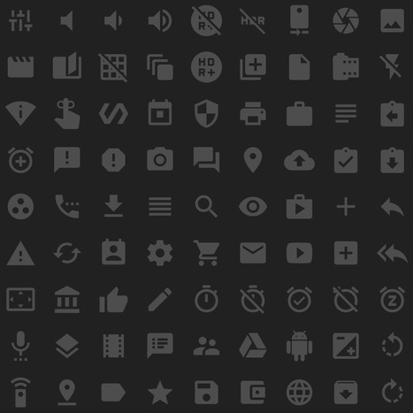 Material icons - Google Design | Mobile Technology | Scoop.it