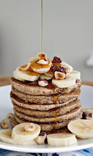 #Healthy #Recipe / Cozy Banana Bread Pancakes   Healthy Junk   Scoop.it