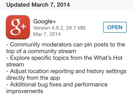 Google Plus App Updated For Community Managers And More | Social Media for Etsy Sellers | Scoop.it