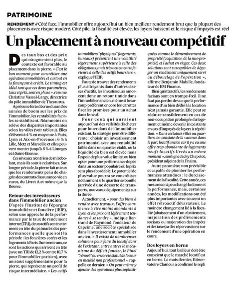 Retour des investisseurs dans l'immobilier ancien - Les Echos | Actu investissement immobilier | Scoop.it