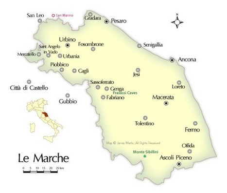 Marche: Map and Travel Information on about.com | Le Marche another Italy | Scoop.it