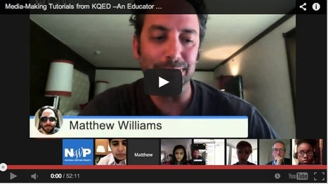 Media-Making Tutorials from KQED Education—An Educator Innovator Webinar | Into the Driver's Seat | Scoop.it