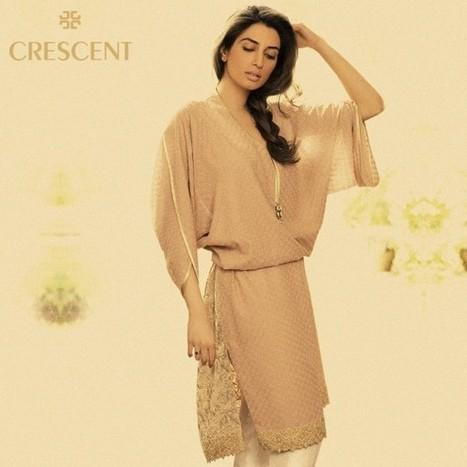 Cresent Designer Pret & Fabric Luxury Dress Collection 2013-14   CHICS & FASHION   Scoop.it