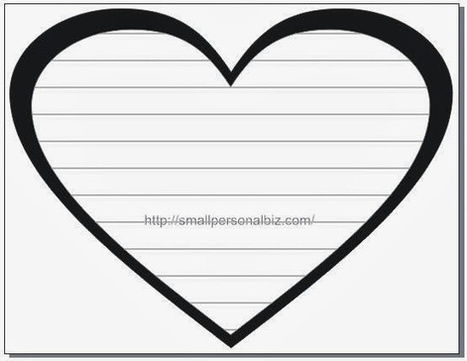 Free Love Heart Image Template with Text Box Lines for Writing Letter or Diary - Free Heart Templates | Free Funny Printable Birthday Cards for Kids | Scoop.it