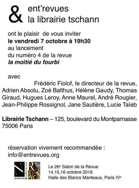 "Vendredi 4 octobre 2016 :: lancement du n° 4 de la revue ""fourbi"" (Paris) | TdF  |    Critique & Revues | Scoop.it"