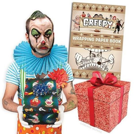Gift Guide: Creepy Wrapping Paper Book - FEARnet.com | gift wrapping ideas | Scoop.it