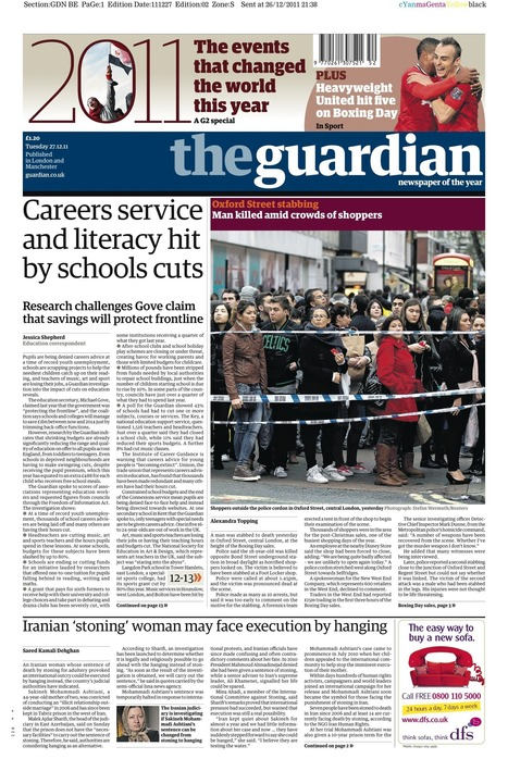 The Guardian's front page: Careers service and literacy hit by schools cut http://yfrog.com/nt2jc2j | Getting children reading | Scoop.it