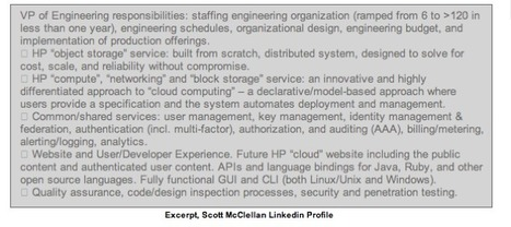 """Hewlett-Packard Exec Social Media Snafu Possibly Exposes Cloud Plans 