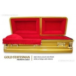 Gold Statesman Premium Casket - Premium Casket - Metal Caskets - Caskets | Caskets and Coffins | Scoop.it