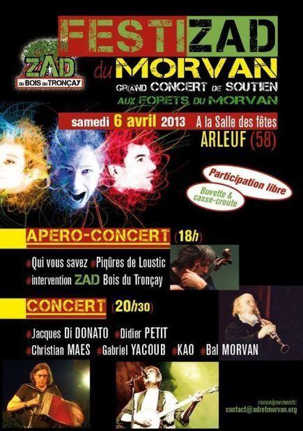 MORVAN - Festizad du Morvan - Concert de soutien - 06/04/13 | Vivre, sortir, bouger à Chalon - L'agenda de Chalon sur Saône et vivre-a-chalon.com | vivre-a-chalon.com : chalon sur saone | grand cha... | cathy666 | Scoop.it