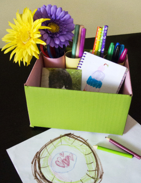 ReUse Craft: Create a Colorful Desk Organizer | Green Child Magazine | Learn through Play - pre-K | Scoop.it