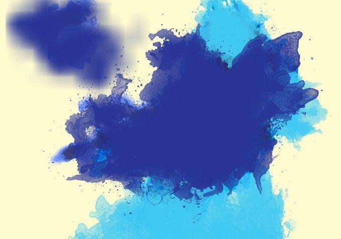 20 Large Watercolor Splatter Brushes
