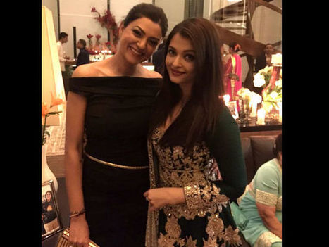 HOT PICS: Aishwarya Rai Bachchan & Sushmita Sen Hug Each Other At Ambani's Bash; No More Rivalry! - Filmibeat | Celebrity Entertainment News | Scoop.it