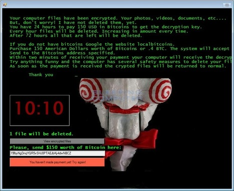 Jigsaw Ransomware Decrypted: Will delete your files until you pay the Ransom | Tools You Can Use | Scoop.it
